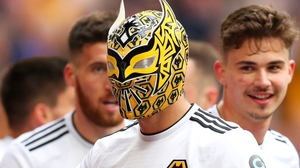 The Wolves man celebrated his goal by putting on a mask