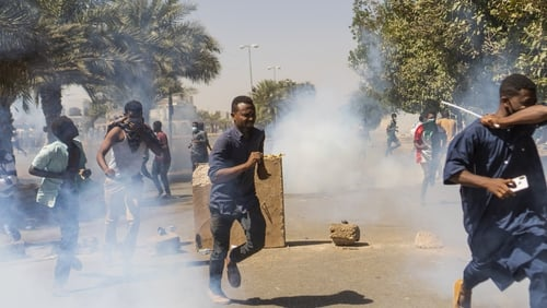 Gunfire heard at peaceful protest in Khartoum