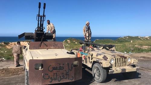 Forces loyal to Libya's UN-backed unity government guard Tajura, a coastal suburb of the Libyan capital Tripoli