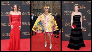 The fashion at the annual Olivier Awards in London was typically dramatic