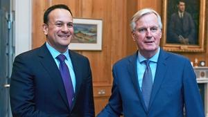 Leo Varadkar and Michel Barnier met ahead of the EU summit in Brussels