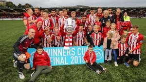 Holders Derry City will host Finn Harps for a place in the semi-finals next month