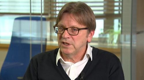 Guy Verhofstadt was speaking on Claire Byrne Live