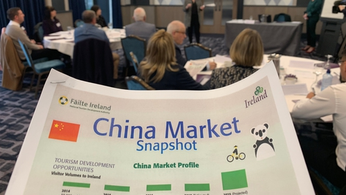 Fáilte Ireland projects that by 2025, the number of Chinese tourists coming to Ireland will hit 175,000