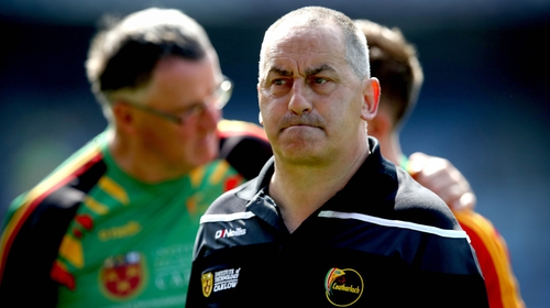 Carlow manager Turlough O'Brien was hit with a charge of 'minor physical inference with a referee'