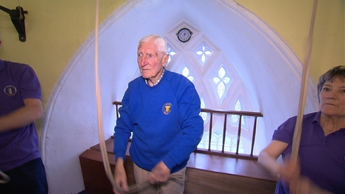 Cyril says the physical and mental aspects of bell-ringing are good for his health