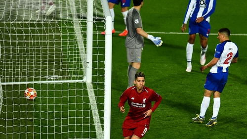 Roberto Firmino makes it 2-0 to Liverpool at Anfield