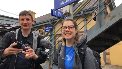 GeoffMarshall and Vicki Pipe have beencreating an online video series called 'All The Stations'