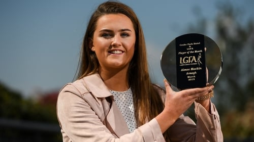 Aimee Mackin is The Croke Park/LGFA Player of the Month award for March