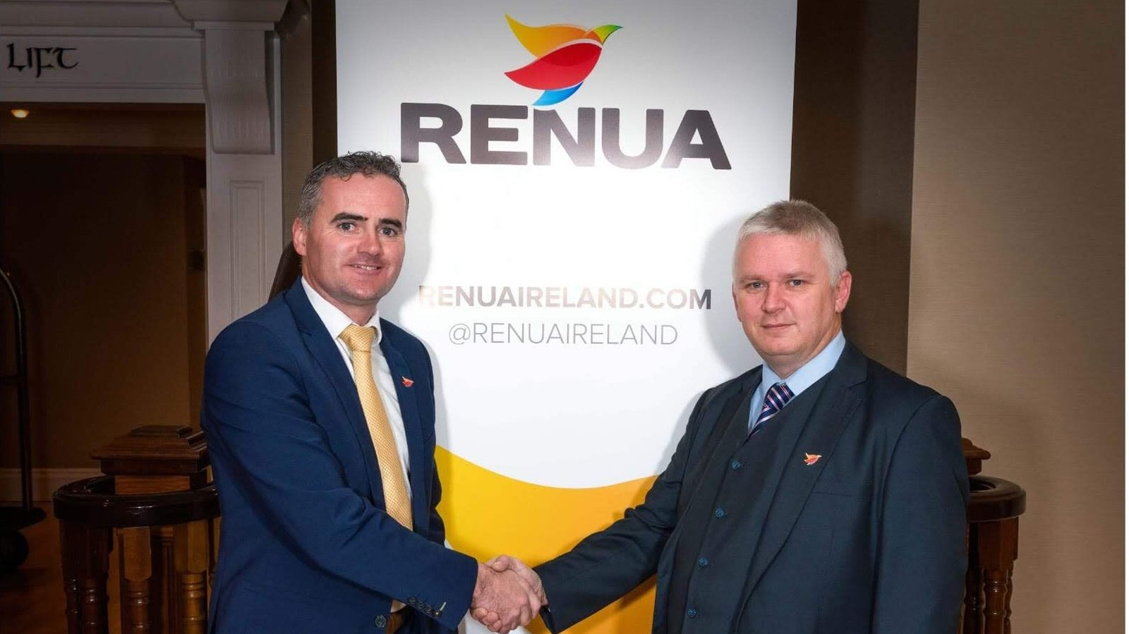 Image - Renua leader John Leahy (L) pictured with candidate Tony Moran