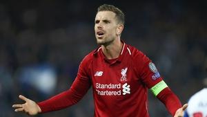 Reds captain Jordan Henderson