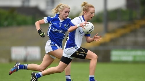 O'Sullivan in action for Cavan against Laura Nerney of Laois