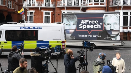 The media has been camped outside the embassy since 2012