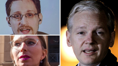 Edward Snowden, Chelsea Manning and Julian Assange - central figures in the WikiLeaks story