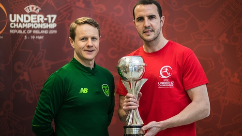 Colin O'Brien, Republic of Ireland manager and John O'Shea, U17 EURO Ambassador