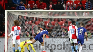 Marcos Alonso heads home Chelsea's winner