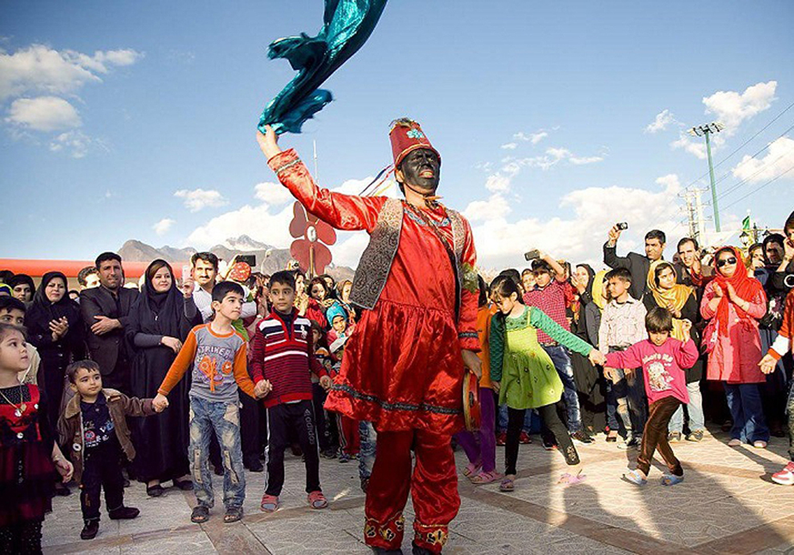Image - Haji Firoz is Persian folklore character that brings good news at Nowruz. Photo: Persia Digest