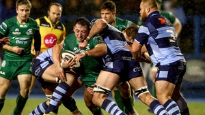 Action from Connacht-Cardiff in January