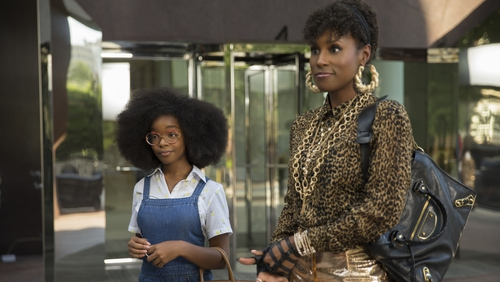 Marsai Martin and Issa Rae's characters enjoy a rare moment of civility in Little