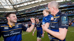 Henshaw and Toner in Leinster colours