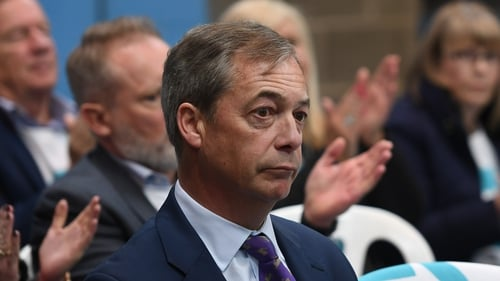 The website has a banner message saying that Nigel Farage does not represent Britain