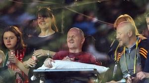 Sean Cox watches on at the Aviva Stadium