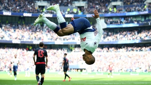 Lucas Moura is head over heels after scoring his second goal