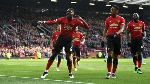 Pogba bagged a brace for United