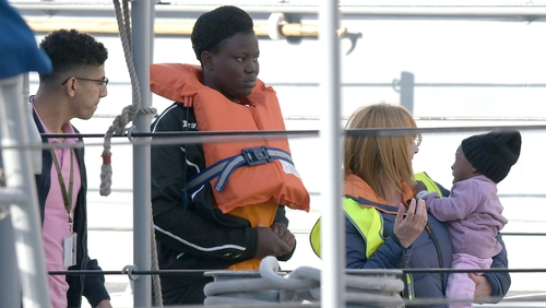 62 migrants rescued ten days ago are to be redistributed between Germany, France, Portugal and Luxembourg