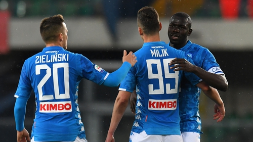 Napoli earned a 3-1 win over  Chievo to delay Juventus' title celebrations