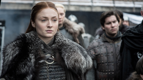 Sophie Turner as Sansa Stark on Game of Thrones