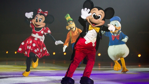 Minnie, Goofy, Mickey and Donald