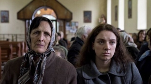 Fiona Shaw (left) with Fionnuala Flaherty in 'Out Of Innocence'