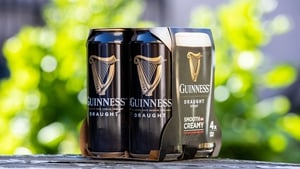 Photo courtesy of Naoise Culhane of Diageo's new plastic free packaging as seen on Guinness cans.