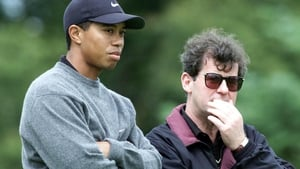 Tiger Woods (L) with JP McManus at the Invitational Pro Am back in 2000