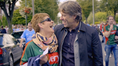 Episode one sees Bishop meeting fans and in the crowd at 2017 All-Ireland Final between Dublin and Mayo