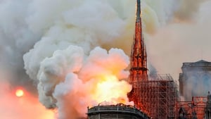 The cathedral was destroyed in a fire in April of last year
