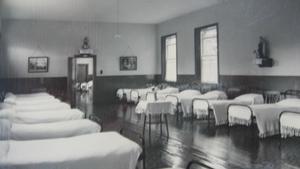 A dormitory at Sean Ross Abbey, Roscrea