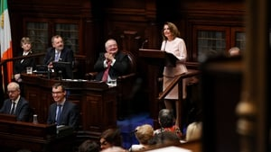 Nancy Pelosi addressed the Dáil this afternoon