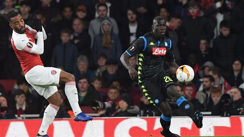 Kalidou Koulibaly (R) said Napoli are smarting after their loss at the Emirates