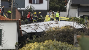 The crash happened on the Portuguese island of Madeira