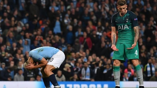 Toby Alderweireld reacts after Spurs knocked Man City out of the Champions League
