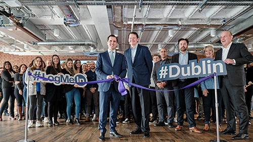Martin Shanahan, CEO of IDA Ireland and Chris Manton-Jones, Senior Vice President & General Manager International Business at LogMeIn