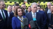 Speaker Nancy Pelosi travelled to the Derry-Donegal border