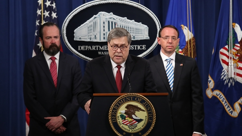 AG William Barr delivered a spirited defence of the Republican president, infuriating Democrats