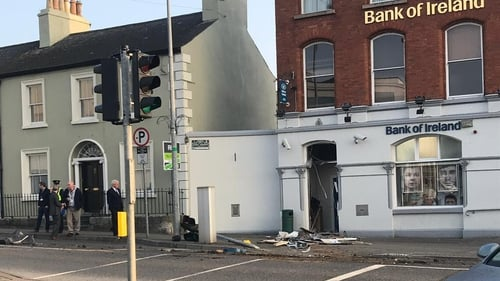 Extensive damage was caused to the Bank of Ireland in the raid