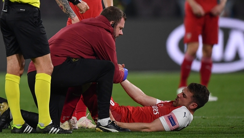'We have other players ready and waiting' said Emery of Ramsey's injury