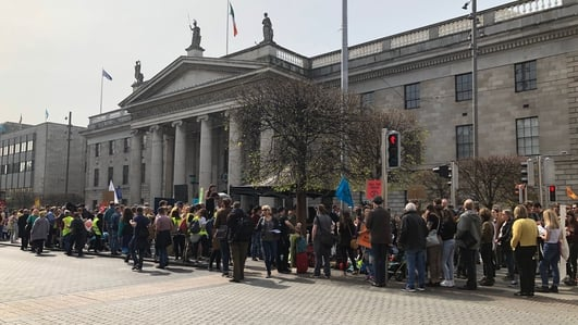 Climate change activists take to streets in Dublin