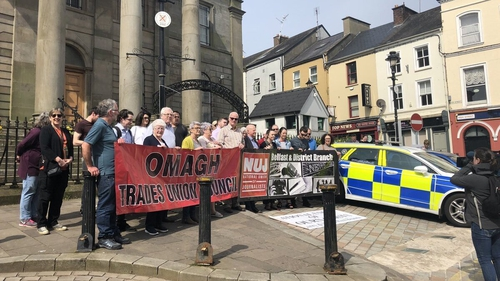 Around 200 people attended a vigil in Omagh organised by the NUJ and Omagh Trade Unions Council