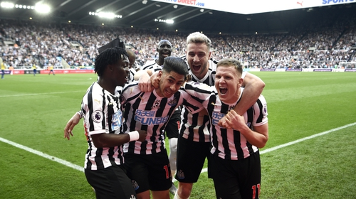 Ayoze Perez is mobbed after breaking the deadlock